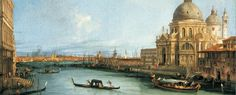 Canaletto - Santa Maria della Salute in Venedig vom Canal Grande aus (Gemäldegalerie - Staatliche Museen zu Berlin (Germany - Berlin)) カナレット Grand Canal, Santa Maria, Rococo, Francesco Guardi, Honore Daumier, Venice Painting, Gustave Courbet, Renaissance Paintings, Museum