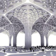 Mumbai Airport Meets Kuwait Water Towers
