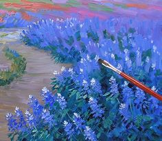 A Stunning Spring just for eBay – Mikki Senkarik Olympus Digital Camera, Blue Bonnets, Painting Techniques, Watercolor Art, Gallery, Drawings, Spring, Flowers, Ebay