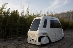 A driverless vehicle runs at Vanke's Building Research Centre testing area in Dongguan
