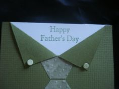 stampinup fathers day cards | Handmade Father's Day Card Tie Buttons Stampin Up Fathers Day