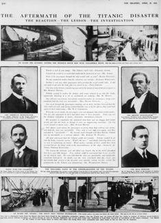 Titanic aftermath 1912