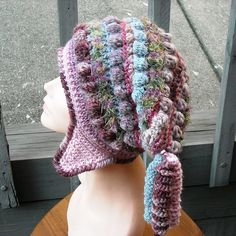 FREEFORM CROCHET HAT WITH EARFLAPS   by woolmountain