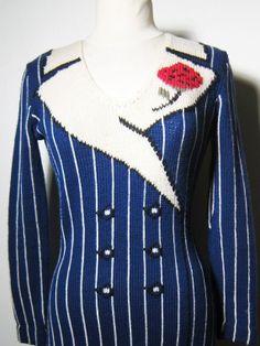 Trompe L'oeil Sweater Dress