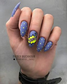 Keep reading for 90 of our favorite easy winter nail designs to add to your manicure to-do list. kurz Let these 90 winter nails designs ideas inspire your next manicure Cute Summer Nail Designs, Cute Summer Nails, Diy Nail Designs, Short Nail Designs, Nail Polish Designs, Cute Nails, My Nails, Ongles Pop Art, Pop Art Nails
