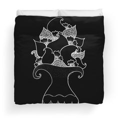 Amphora - Black White Duvet Covers Brushed polyester printed topside  #TwoHalves #Lifetree #Meditationzen #zentangleart #printabstract #mehendi #Paisley #drawing #Rebirth #Black #White #Yoga #Indian #GrandTartaria #redbubble #flower #oriental #magic #Duvet #Covers  https://www.redbubble.com/people/grandtartaria/works/29944097-amphora-black-white?asc=u&p=duvet-cover