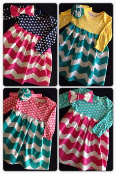 Everyday Chevron OnesieDress size 3mo. by HaleyLaine on Etsy, $18.00