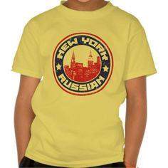 New York Russian American Kids' T-shirt.  To see this design on a range of other products, please visit my store: www.zazzle.com/celticana*/ #RussianAmerican #Russia