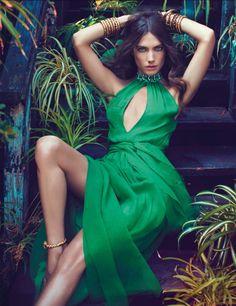 Green dress, green dresss