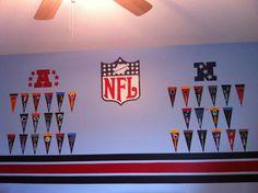 Kids room ideas for boys football man cave 45 super Ideas Ikea Kids Room, Cool Kids Rooms, Kids Room Paint, Boys Room Decor, Kids Bedroom, Bedroom Ideas, Boys Loft Beds, Football Bedroom, Cowboy Room