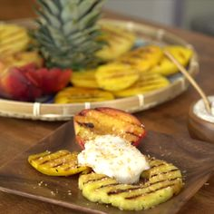 Grill up this easy tropical dessert at your next BBQ!