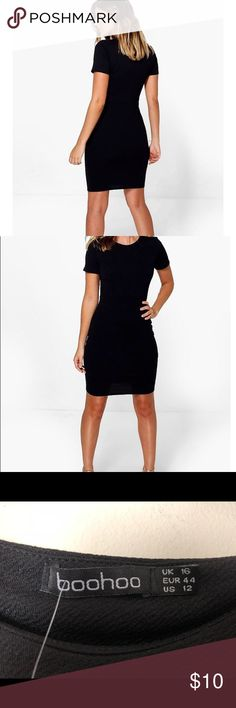 BooHoo Black Mini Super cute mini from BooHoo (UK based brand). Brand new with tags. Cute for summer with legs out or paired with favorite stockings for chic winter look! Boohoo Dresses Mini
