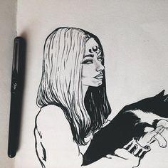 Doodling ☕️. #illustration #sketchbook #drawing #art #artwork #artist #pentelbrushpen #doodle #artoftheday #inkdrawing #myart #sketch