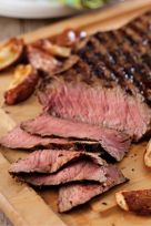 Balsamic Glazed London Broil. I just made this; yummy!