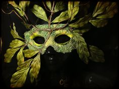 Nature Spirit Tree Mask Wearable Wall Art Green man Costume
