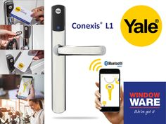Gadget geeks check out this latest high-tech eye candy from Yale! The new Conexis® L1 Smart Door Lock offers space-age good looks and futuristic functionality, which lets you use your phone to control and unlock your door, send or revoke mobile keys, plus specify and keep track of access times for individuals!