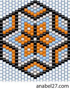 Серьги - схемы мозаика / Earrings - peyote patterns