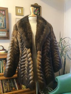 Vintage 70s Fur Coat New Zealand Opossum by JanetsVintagePlanet