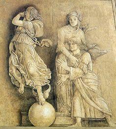 Bottega di Andrea Mantegna, Occasio e Paenitentia, 1500-1505, affresco (Mantova, Palazzo Ducale)