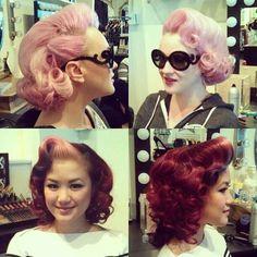 Vintage hair do.