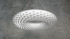 """Finnish digital sculptor Janne Kyttanen creates works at the intersection of 3D printing, virtual and augmented reality. Currently, the artist and designer is showcasing his latest work, the """"Avoid Chandelier"""", at Design Miami /Basel 2016. Gallery ALL will unveil the Avoid Chandelier, an extraordinary oversized light feature. The Avoid Chandelier is a glowing circular light …"""