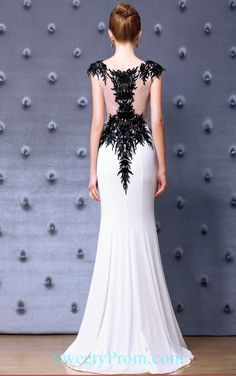 Embroidery Beaded Black And White Mermaid Evening Dreses ALS,Embroidery Beaded Black And White Mermaid Evening Dreses ALS Black And White Evening Dresses, Black Wedding Dresses, Affordable Evening Dresses, Formal Evening Dresses, Mermaid Evening Dresses, Altering Clothes, Two Piece Dress, Brown Dress, Embroidery Dress