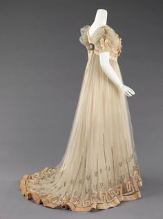 THE VINTAGE THIMBLE — Evening dress House of Paquin. Mme. Jeanne Paquin....