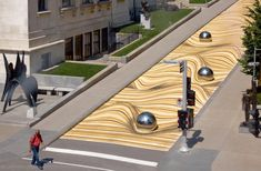An Anamorphic Mural Transforms a Montreal Street into Undulating Sand Dunes Museum Of Fine Arts, Art Museum, Dune, Art Connection, Anamorphic, Colossal Art, Film D'animation, Canada, Arquitetura
