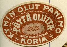 #Olutetiketti #Kymin Olutpanimo Oy #Koria #Pöytäolutta #Mietoa mallasjuomaa #2,5% #Öl #Etikett #Beer #Label #Mild beer Old Ads, Beer, Home Decor, Root Beer, Ale, Decoration Home, Room Decor, Old Advertisements, Vintage Ads