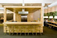 kitchen -   wood covered bar