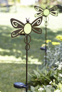 Solar-Gartenspiess Libelle / Candélabre solaire Libellule