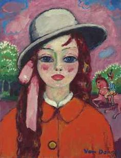 Christie's M & I May Sales  Kees van Dongen (1877-1968)   Fillette au bois, Le petit cheval rose  oil on canvas  25 5/8 x 19 5/8 in. (65 x 40.8 cm.)  Provenance Dominion Gallery, Montreal (acquired from the artist, 1957).