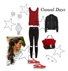 """""""Casual x"""" by xhazeyx on Polyvore featuring WearAll, New Balance, River Island, Topshop, Kate Spade, Bling Jewelry, women's clothing, women's fashion, women and female"""
