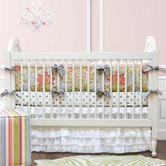 Beautiful crib bedding - love the ruffle skirt!