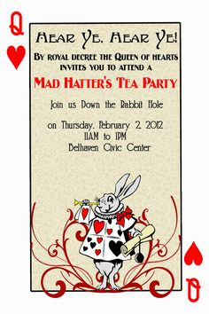 alice in wonderland playing cards | Alice in Wonderland tea party White Rabbit Playing Cards Queen King ...