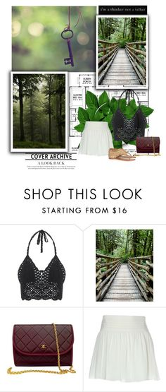 """""""Here in the forest, dark and deep, I offer you eternal sleep"""" by akakiosa ❤ liked on Polyvore featuring Chanel, Alice + Olivia, Tory Burch, women's clothing, women's fashion, women, female, woman, misses and juniors"""