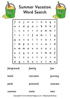 easy word searches grandkids in mind easy word  summer holiday essay for kids summer holiday word search easy