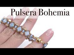 Pulsera Mariposa con cuentas Superduo - YouTube