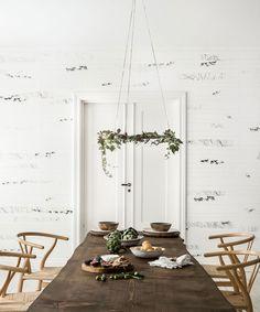 Photowall Nordic Moods wallpaper Scandinavian Surface - Lovely Scandinavian dining