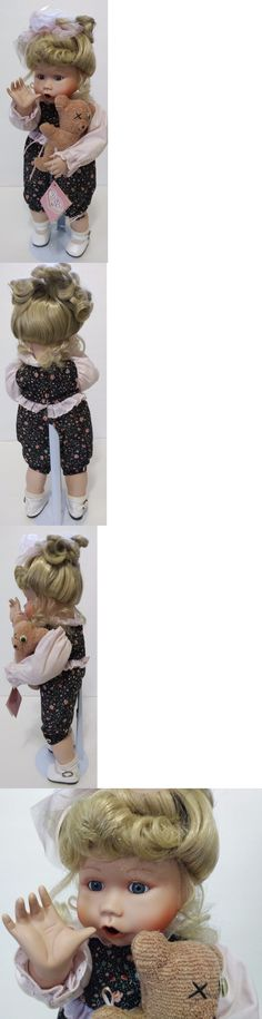 Dolls And Bears: Knowles Boo-Bear And Me 14 Porcelain Doll By Jan Goodyear 1991 -> BUY IT NOW ONLY: $34.99 on eBay!