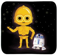 C3PO & R2D2 by Cecy Meade.