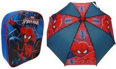 Marvel Spiderman Backpack & Umbrella Set Backpack Umbrella, Spiderman Backpack, Kids Umbrellas, Marvel, Backpacks, Color, Colour, Backpack, Backpacker