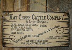 Hat Creek Cattle Company & Livery Emporium by CowboyBrandFurniture