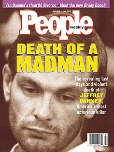 photo | Death, Murder, Jeffrey Dahmer Cover, True Crime, Jeffrey Dahmer