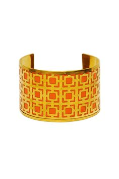Hand-dyed leather in vibrant colors is encased by architectural Moroccan inspired cut outs. Wear with the other cuffs from this collection for advanced style. One size fits most, base is adjustable.   Marrakesh Cuffs by Made It!. Accessories - Jewelry - Bracelets New Jersey