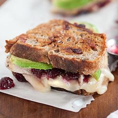 Turkey, Cranberry and Brie Grilled Cheese with Avocado (using leftover turkey and cranberry sauce) Plus 10 other cranberry recipes.