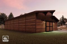 Brightwood horse barn kit is a modern single-story barn design that maximizes natural light and ventilation. Tongue And Groove Walls, Garage Party, Roof Sheathing, Barn Kits, Classic Equine, Cedar Boards, Barn Storage, Clerestory Windows, Dutch Door