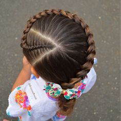 75 Easy Braids for Kids (with Tutorial) White Girl Braids, Little Girl Braids, Braids For Kids, Girls Braids, Fun Braids, Baby Girl Hairstyles, Kids Braided Hairstyles, Box Braids Hairstyles, Cool Hairstyles
