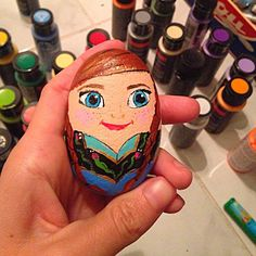 #anna#frozen#Ocean#rock#handpainted#decoration#petrock#painted#kids#cute