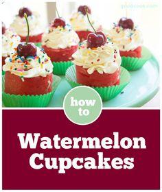 Quick Summer No-Bake Treat: Watermelon Cupcakes